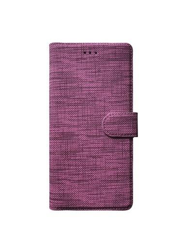 Microsonic Samsung Galaxy J4 Core Kılıf Fabric Book Wallet Mor